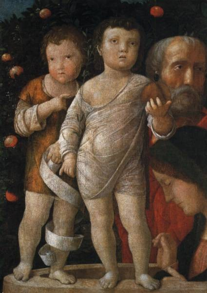 The holy family with St John